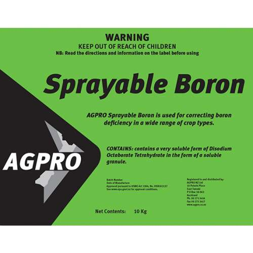 Sprayable Boron